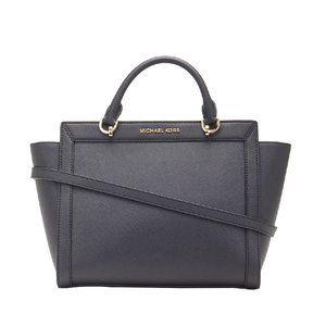 Michael Kors Black Brandi Leather Satchel